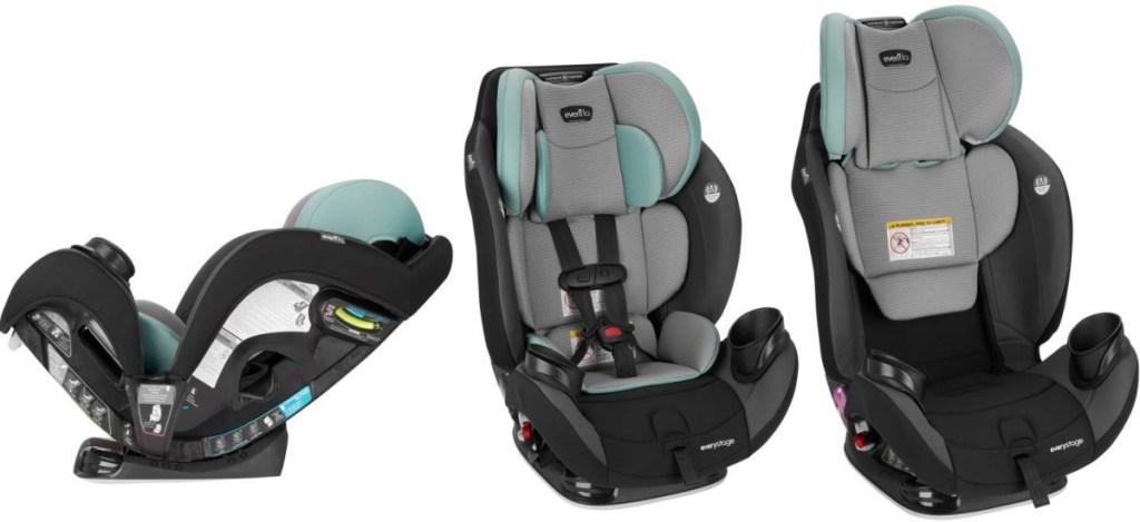 3 Evenflo car seats