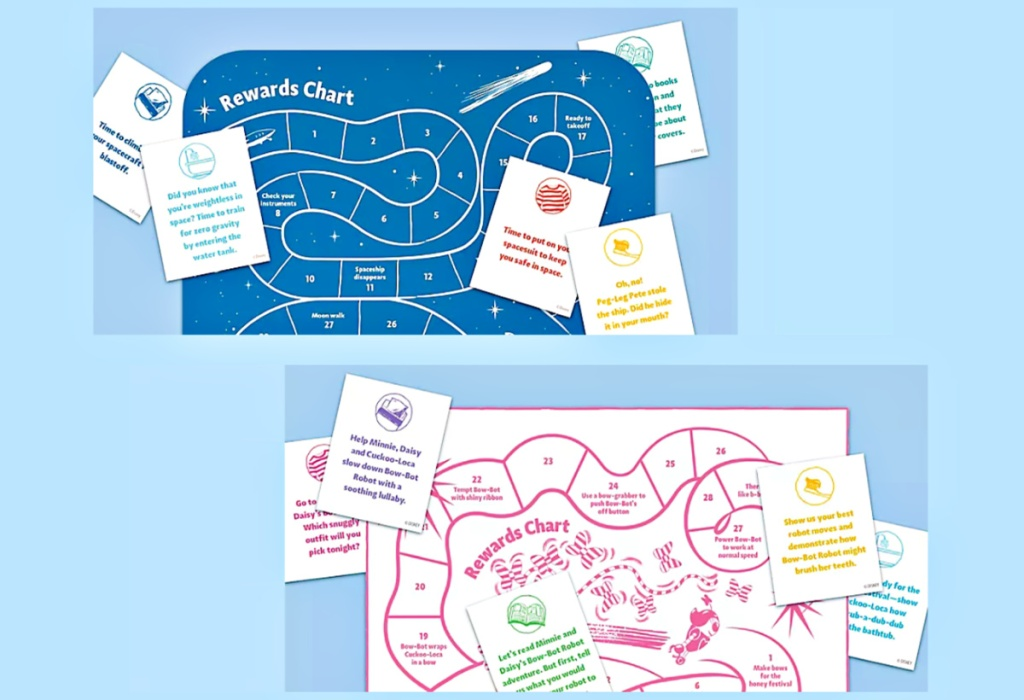 FREE Disney Sleep Activity Cards and Sleep Progress Chart