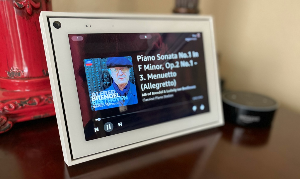 screen showing piano music
