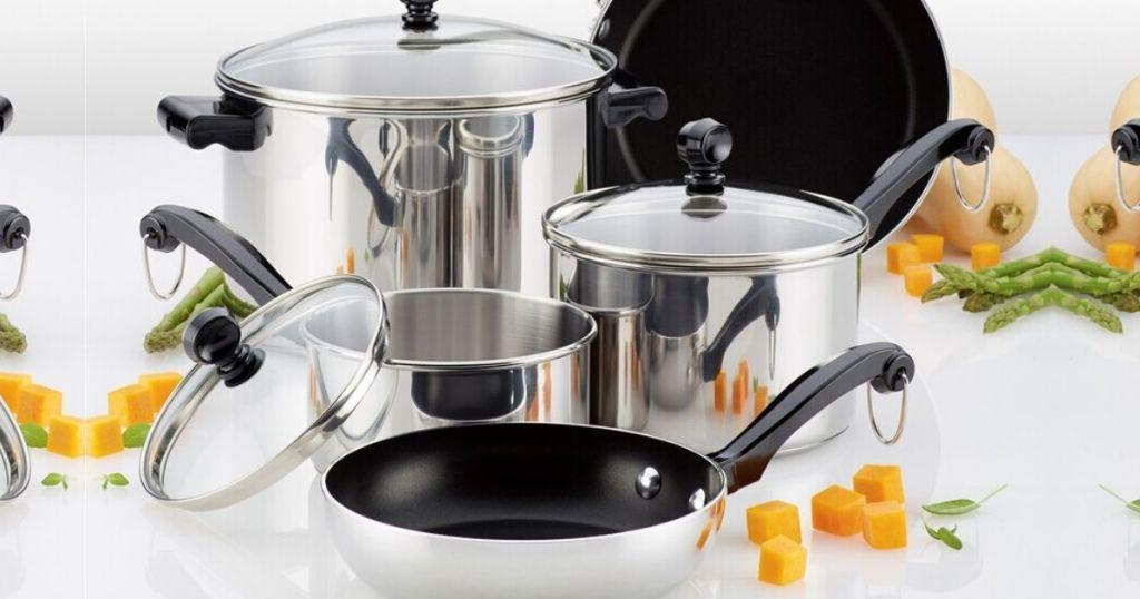 Farberware 10 piece cookware set