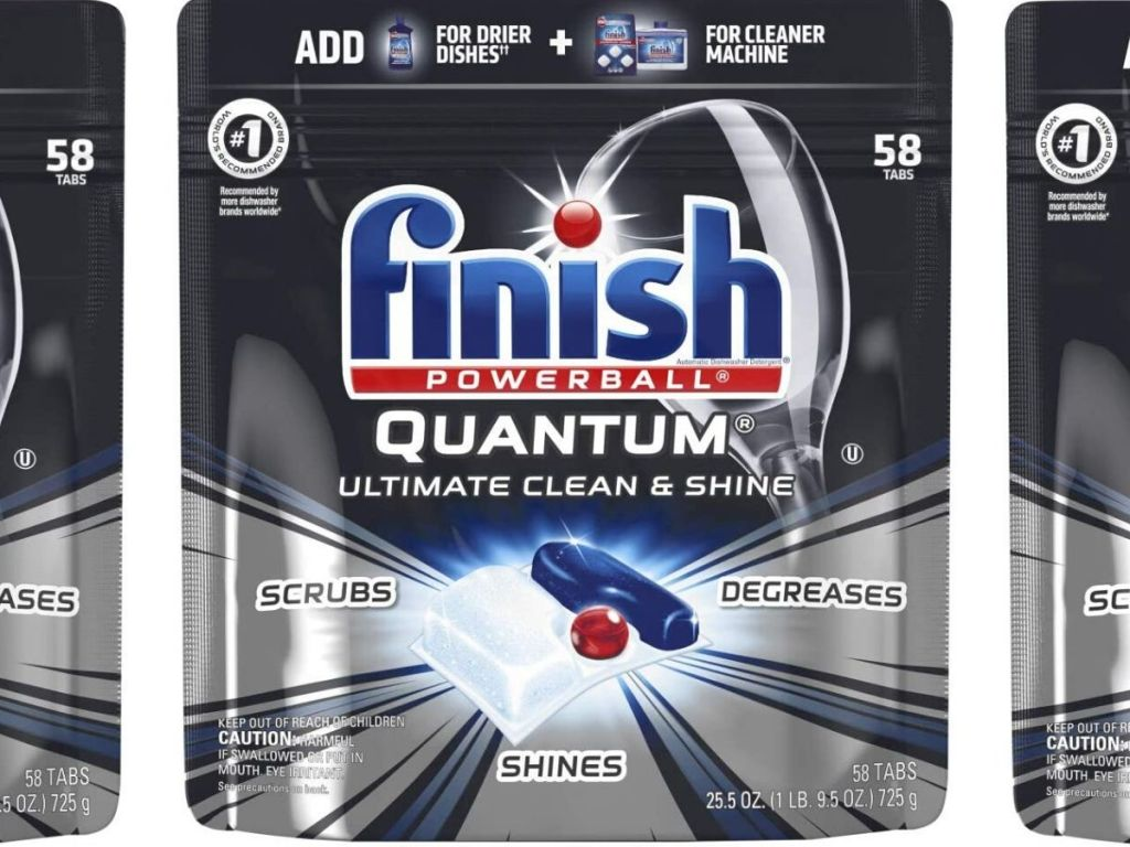 finish powerball 58 count bag of detergent tabs