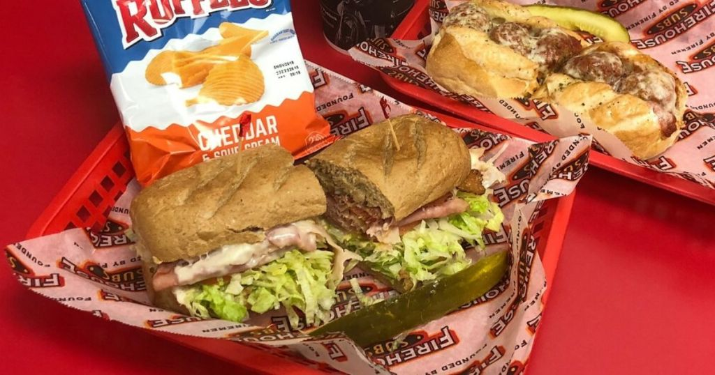 Firehouse Subs with chips in basket