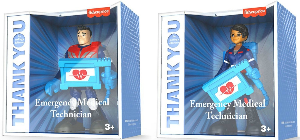 Two EMT themed figures in the packaging