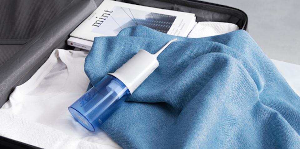 water flosser in suitcase