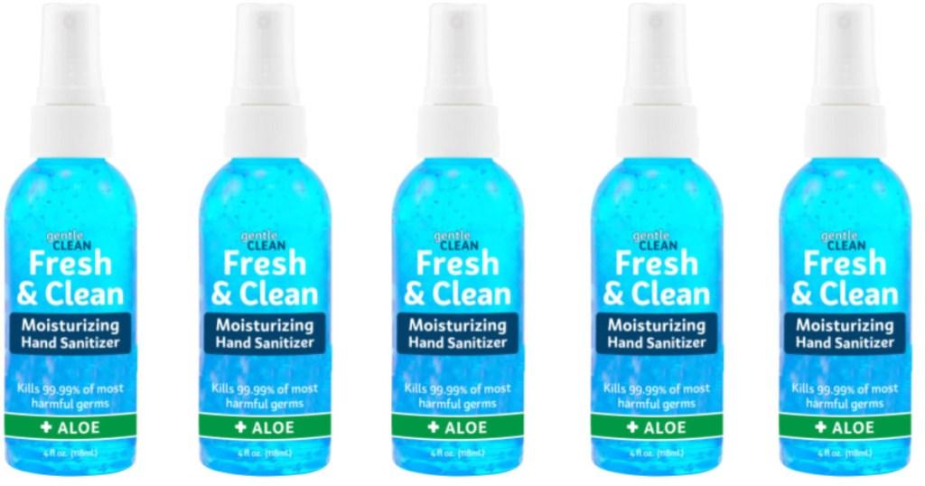 5 bottles of Fresh 'n Clean Moisturizing Hand Sanitizer