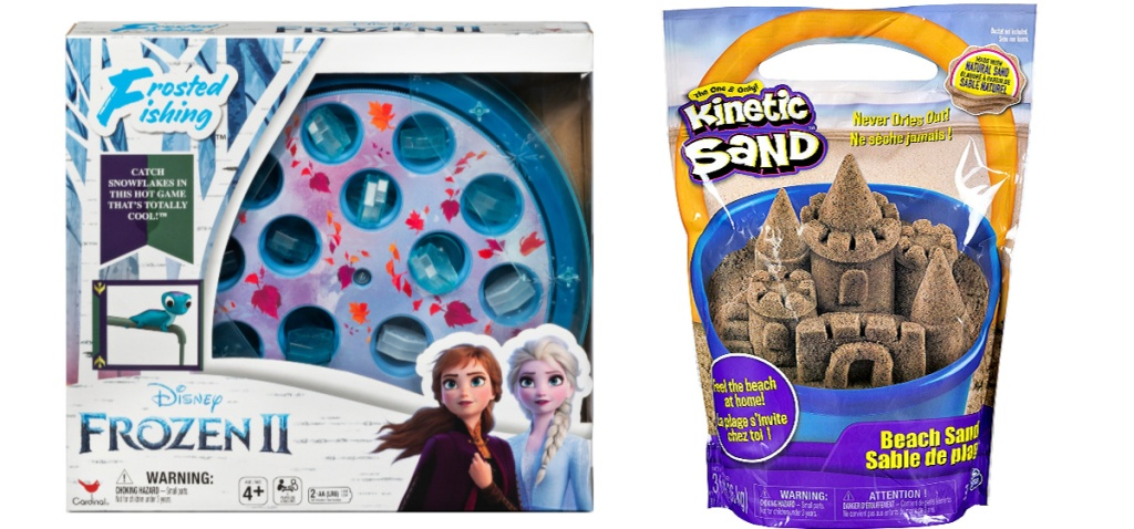 Frozen 2 Fishing Game and Kinetic Sand