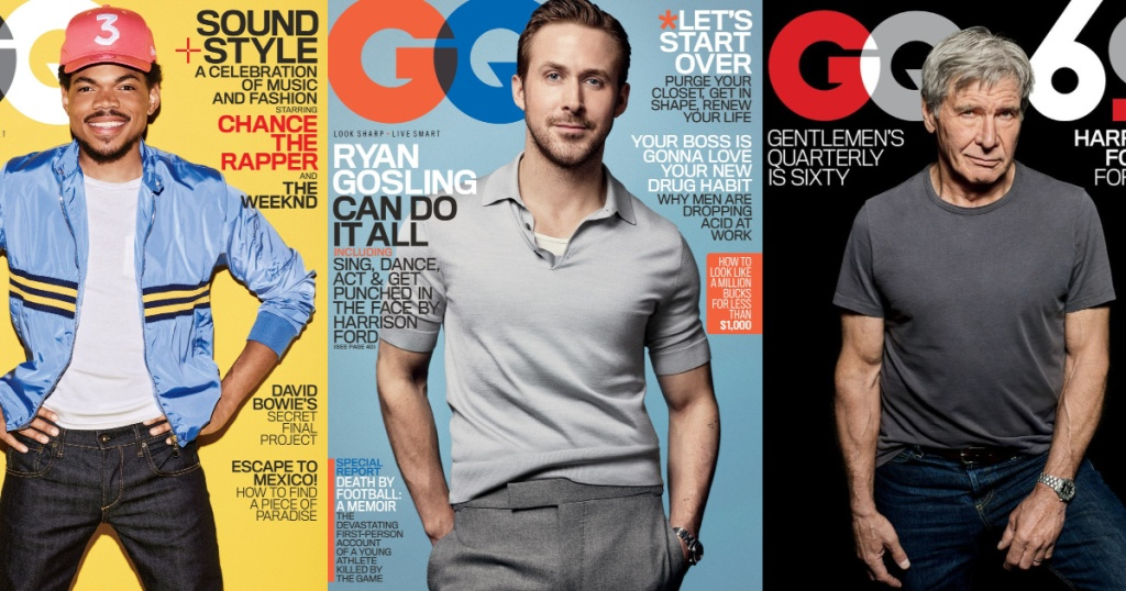 men on the front of GQ Magazine covers