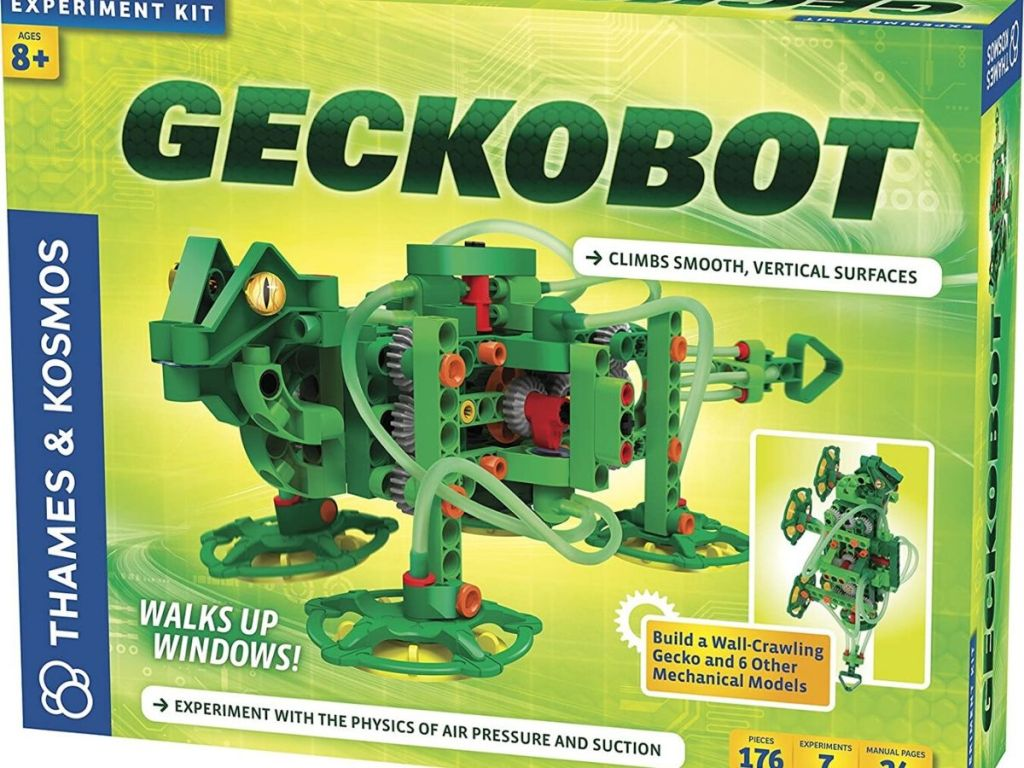 experiment kit with robotic gecko toy