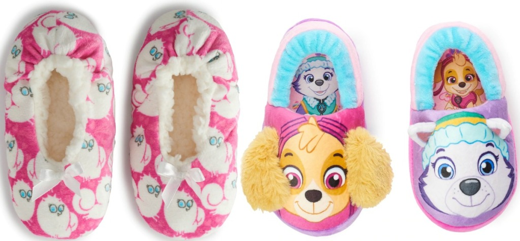 Two character slippers from Kohl's