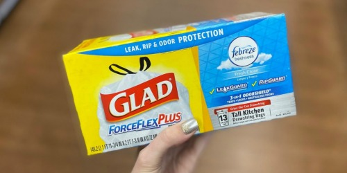 Glad ForceFlex 13-Gallon Trash Bags 80-Count Just $9.76 Shipped on Amazon