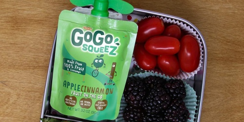 GoGo SqueeZ Applesauce Pouches 48-Count Only $16.96 Shipped on Amazon | Just 35¢ Each