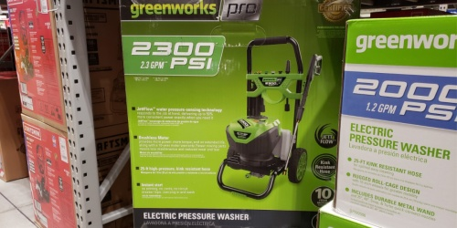 Greenworks Electric Pressure Washer Just $199 Shipped on Lowe's