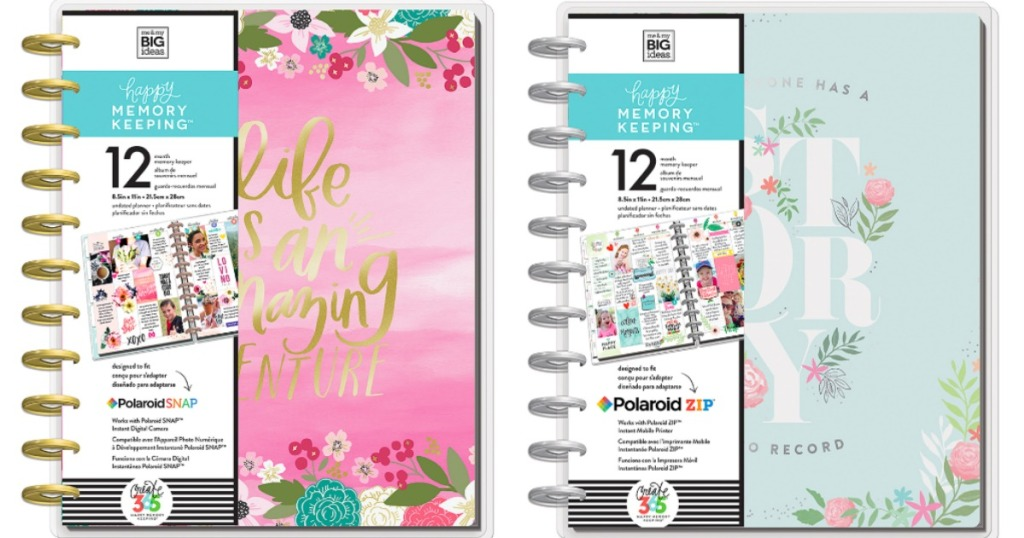 Happy Planner Memory keepers in pink and blue
