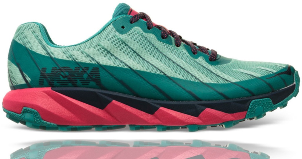 women's hoka teal and pink trail running shoes