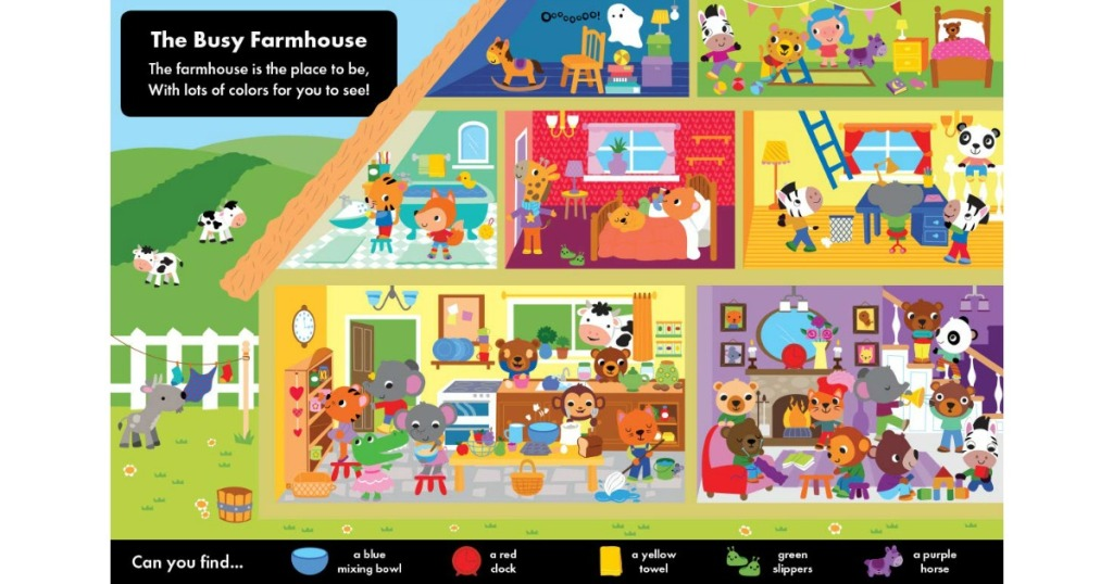 page view of I Spy On The Farm Sticker Book