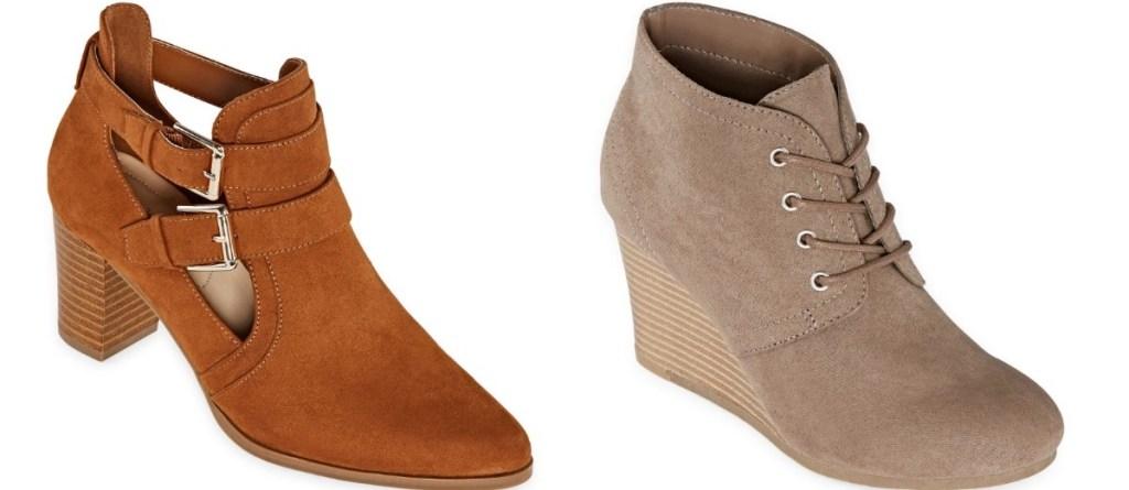 two heel booties