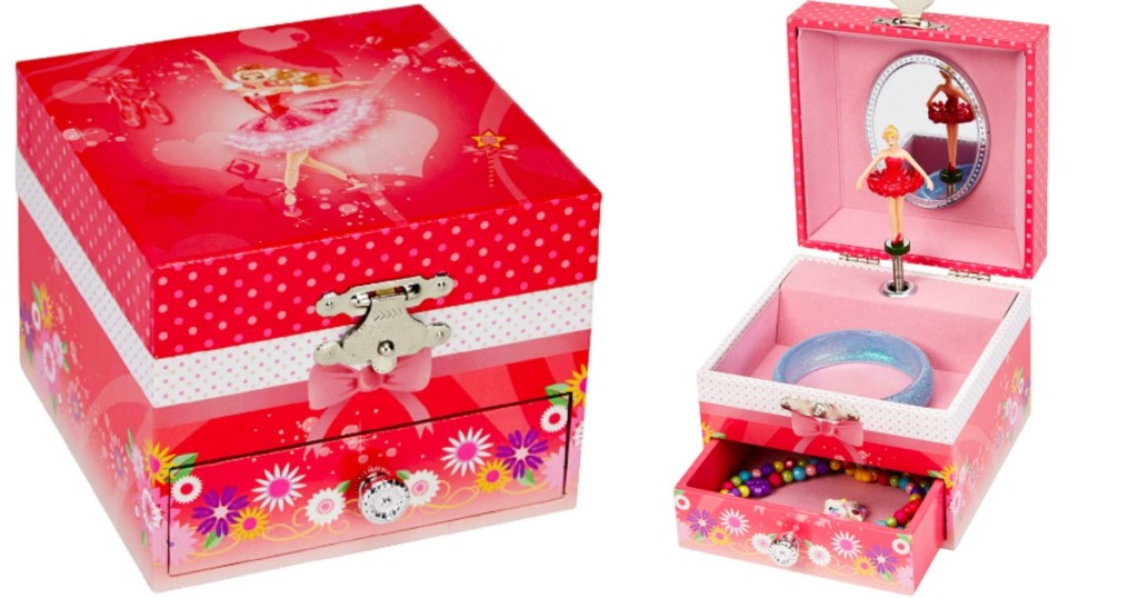 little girls ballerina jewelry box opened and closed