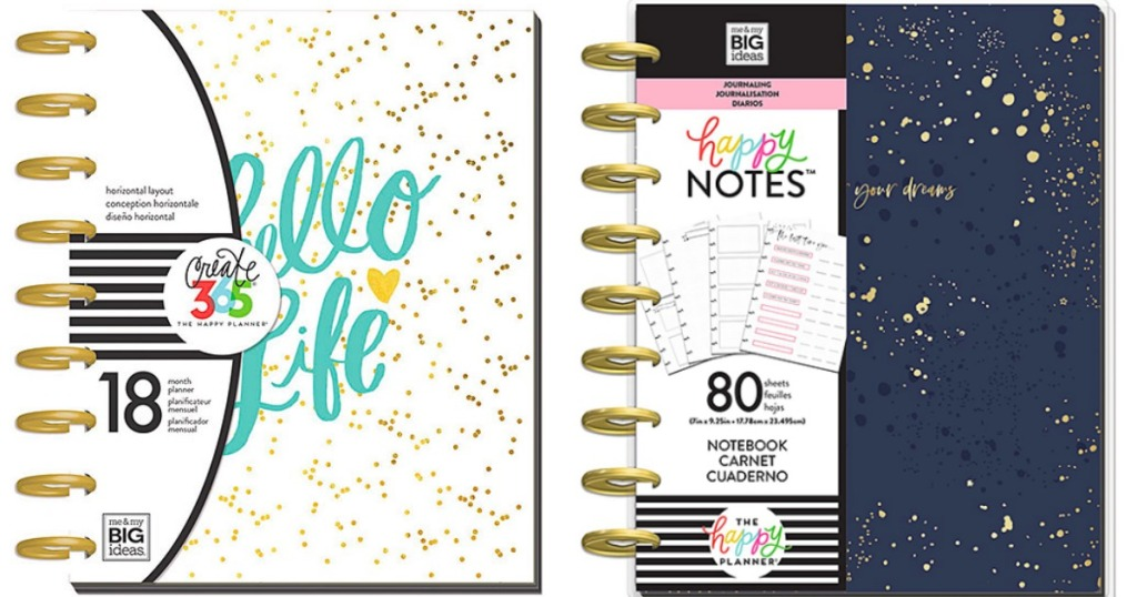 navy blue and white The Happy Planner Journals