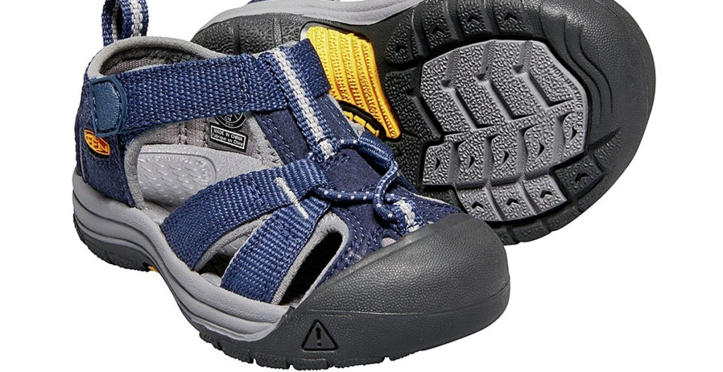 navy blue and black boys hiking sandals