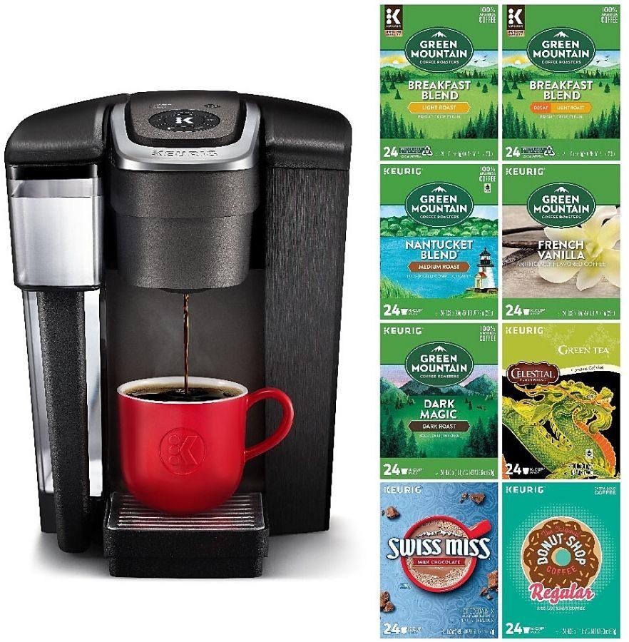 keurig K1500 coffee maker and k-cups bundle