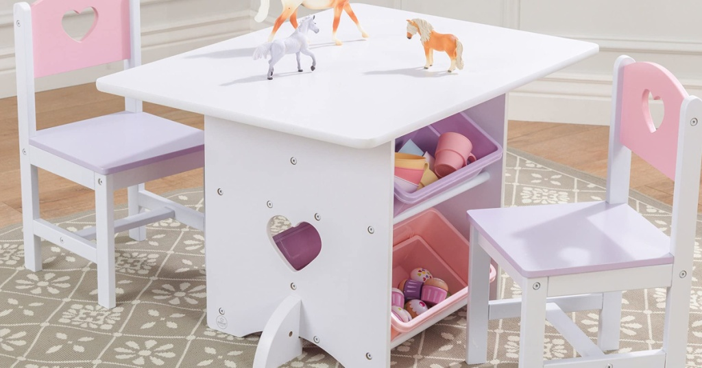 kidkraft white table with chairs