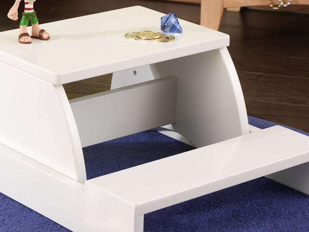 white step stool