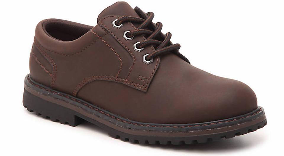 brown kids oxford shoe
