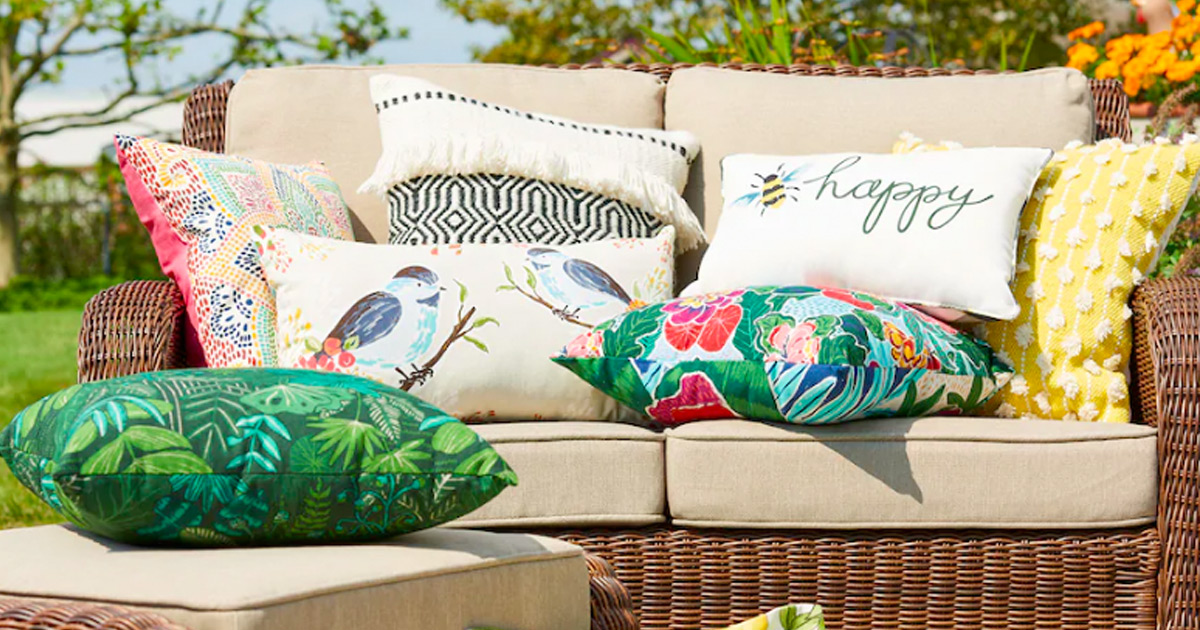 Sonoma Outdoor Throw Pillows As Low As 7 Each W Free Kohl S Curbside Pickup Hip2save