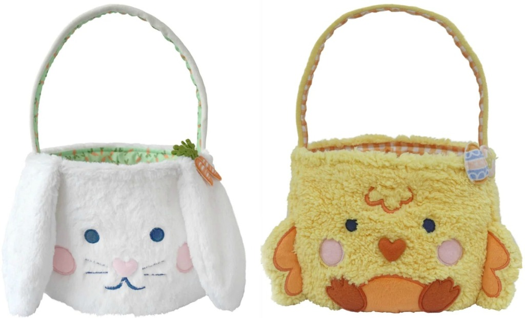Kohl's bunny and chick themed plush easter baskets
