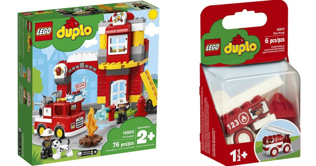 LEGO Duplo Fire Station and Truck boxes