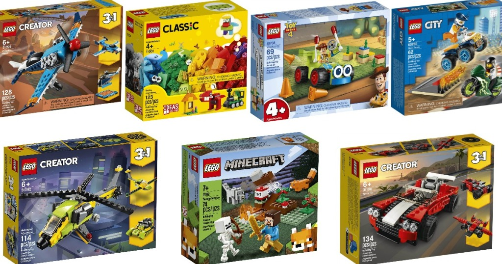seven boxes of LEGO sets