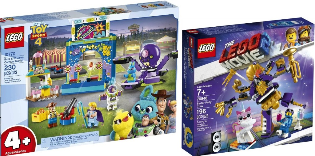 LEGO Toy Story and LEGO Movie boxes
