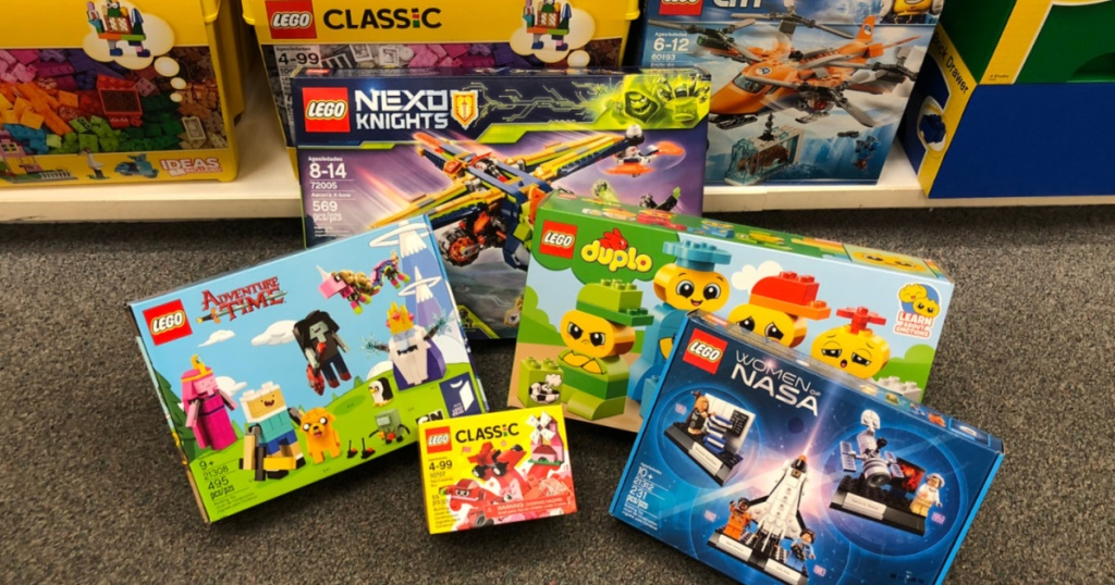LEGO toys on floor in store
