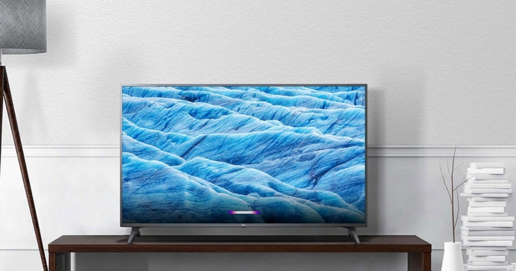tv on stand in a living room
