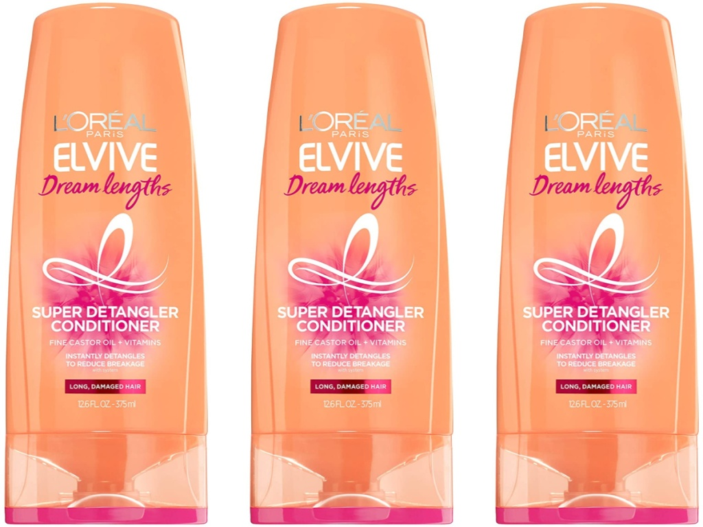 three bottles of L'Oreal Elvive Dream Lengths