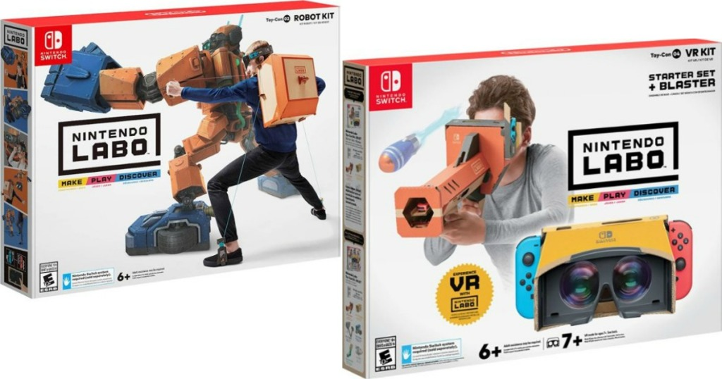 Labo Robot and Blaster boxes