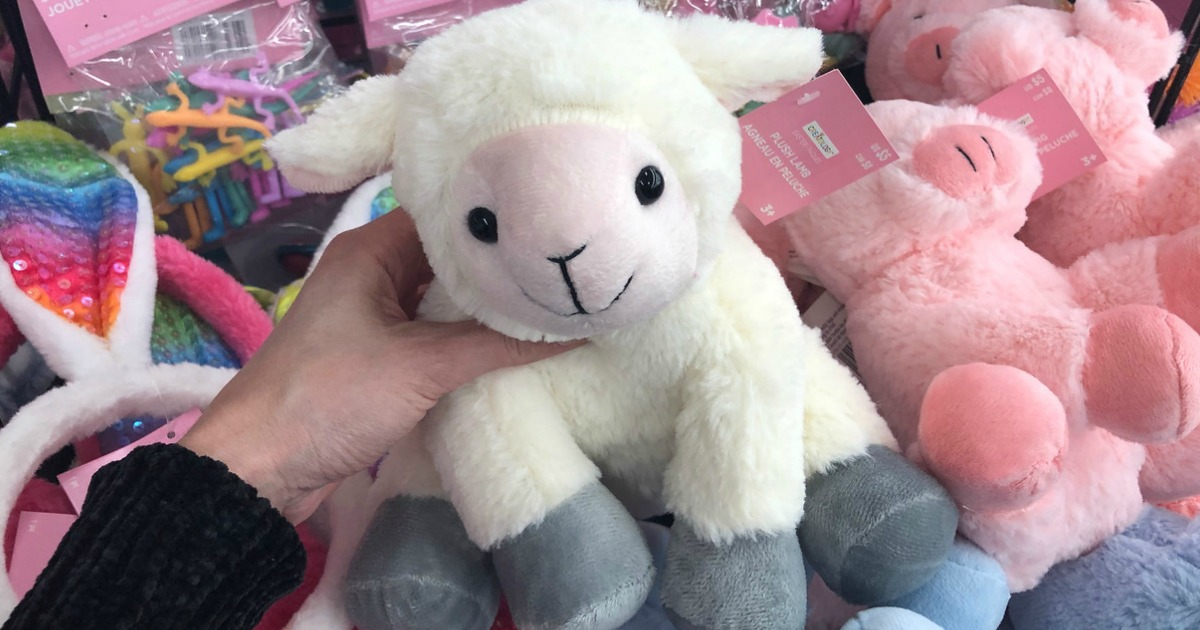 Hand holding Lamb from Michaels