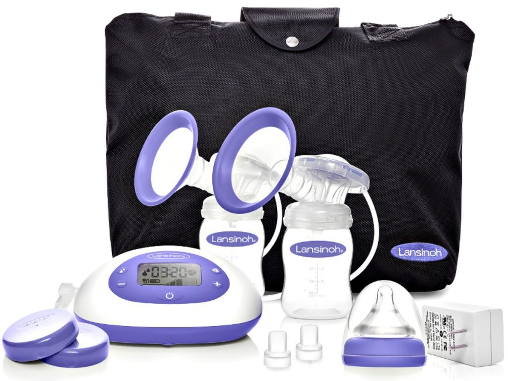 Lansinoh Signature Pro Portable Double Electric Breast Pump with LCD Screen