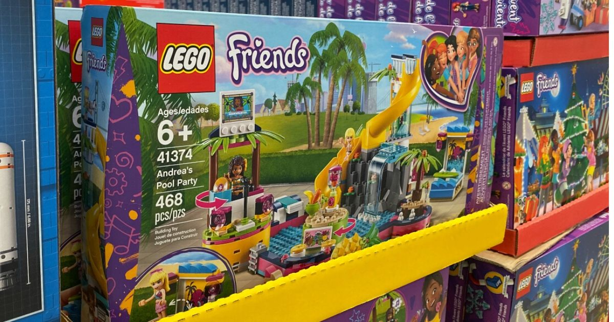 Lego Friends Andreas Pool Party set in box at store