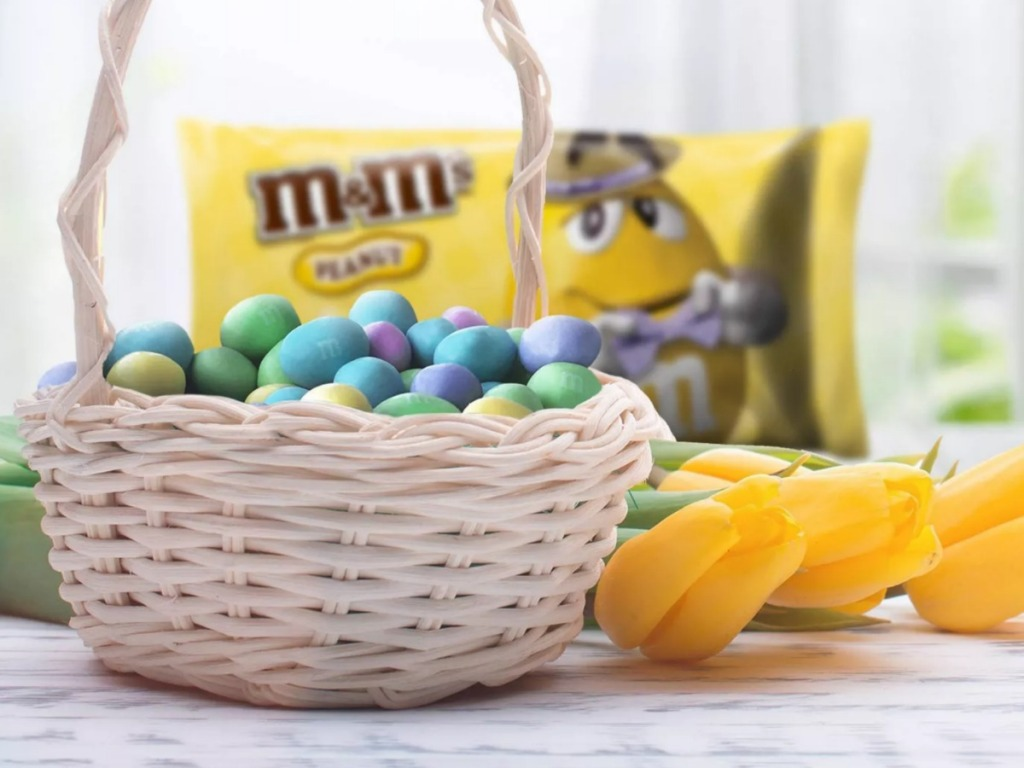 easter M&M's in basket