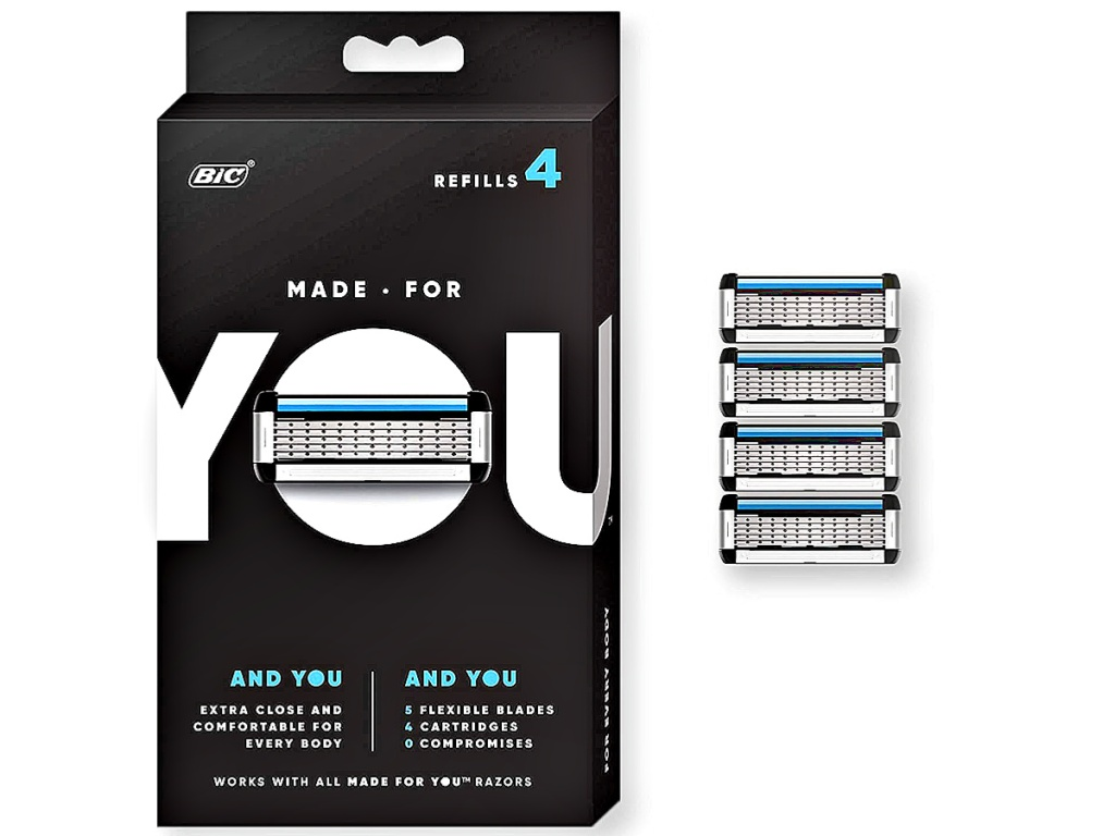 Made for YOU by BIC 4-Count Razor Blade Refills for Every Body