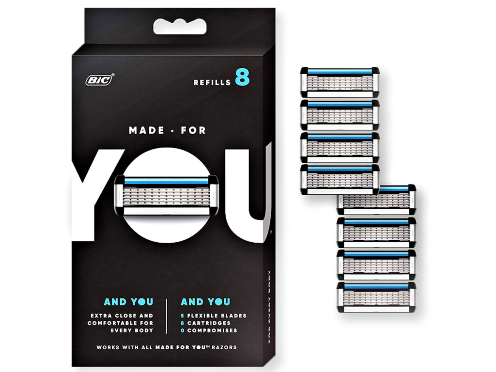 Made for YOU by BIC 8-Count Razor Blade Refills for Every Body