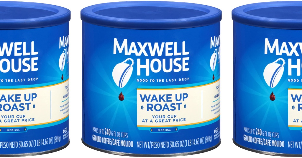 Maxwell House Coffee canister stock image