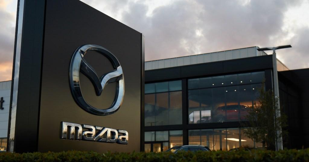 Mazda sign outside dealership