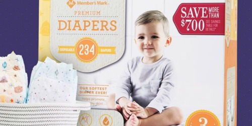 Member's Mark Premium Diapers as Low as $10.98 on Sam's Club | Just 10¢ Per Diaper