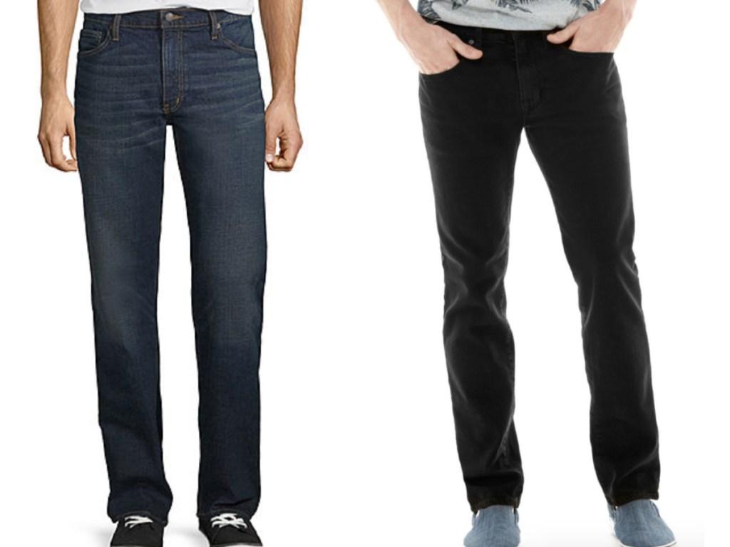 men wearing jeans