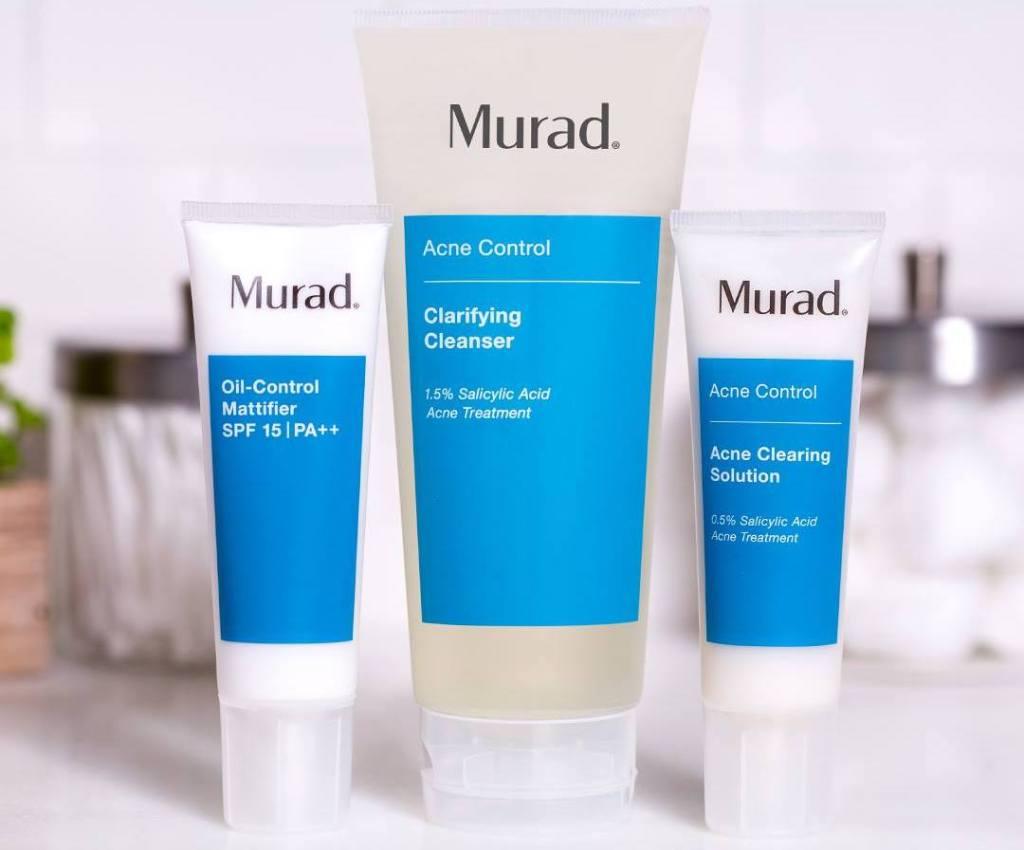 three Murad acne control products