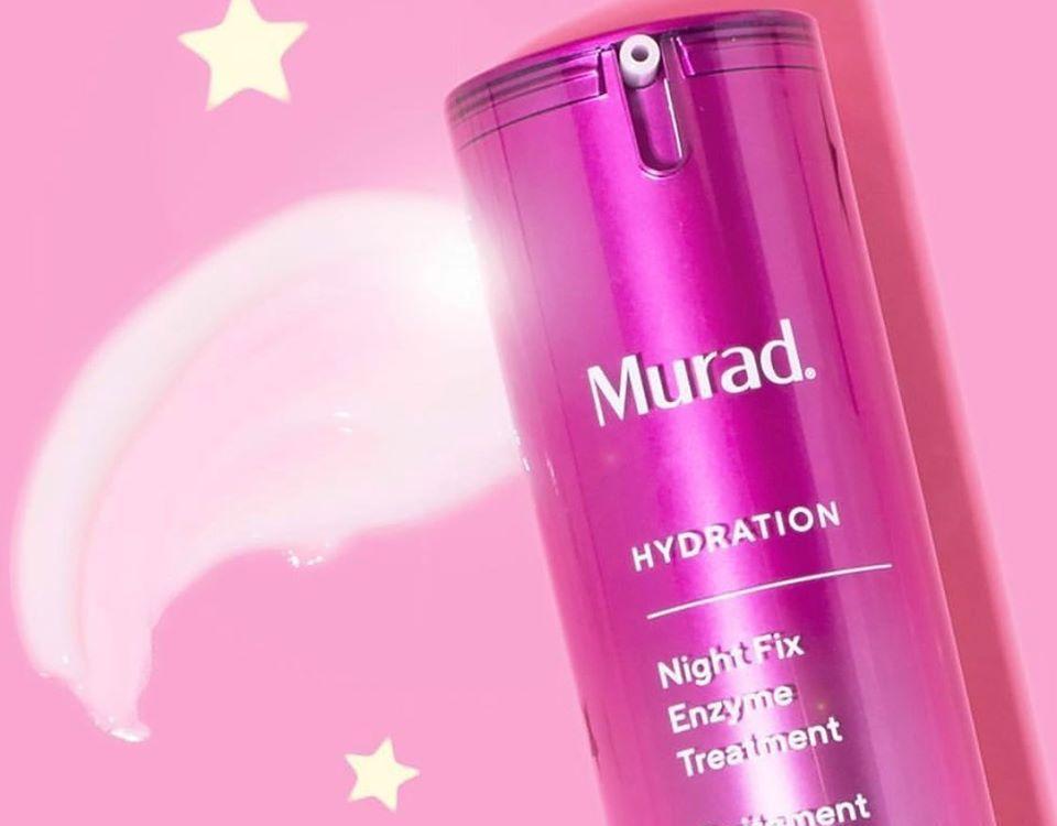 Murad Night Fix serum with stars by it