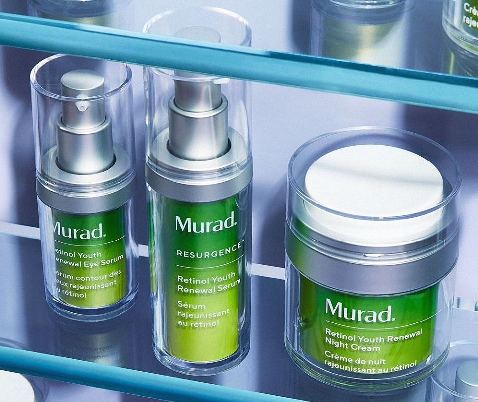 Murad Retinol Serums on a shelf
