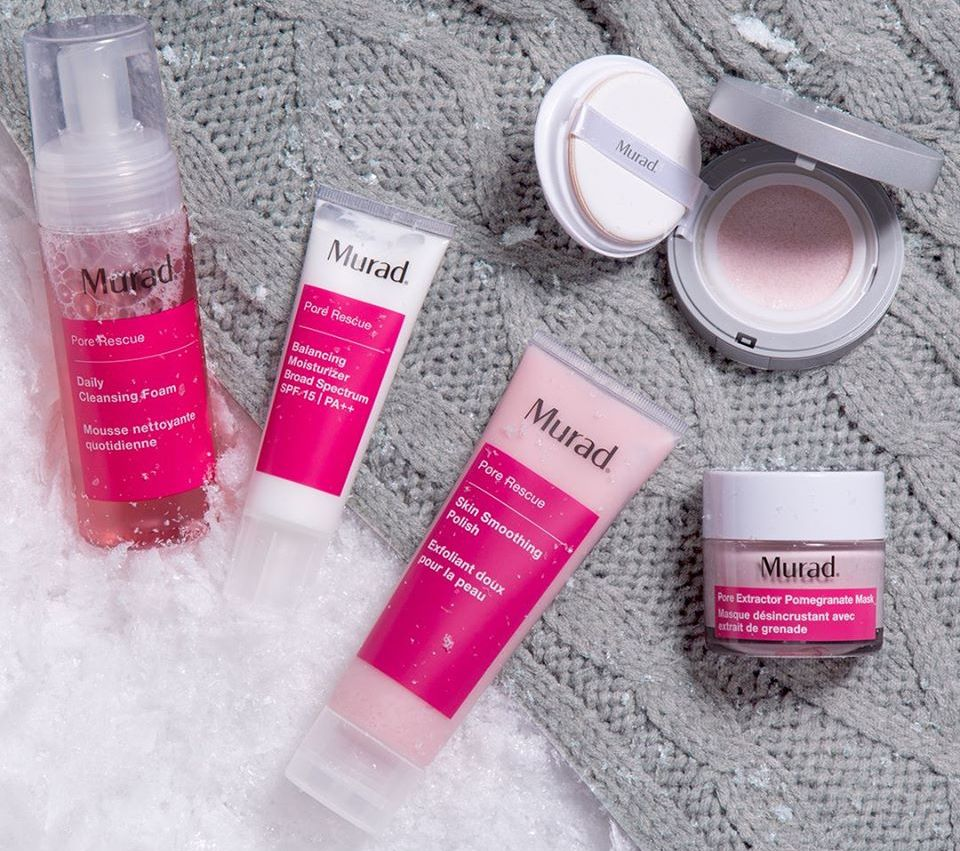 group of Murad skincare products